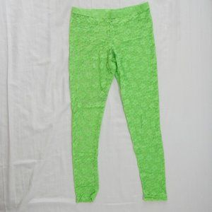 Neon Green Lace Leggings